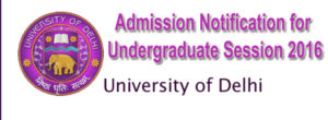 University of Delhi 2016 undergrad